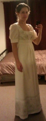 Jane Austen-style dress