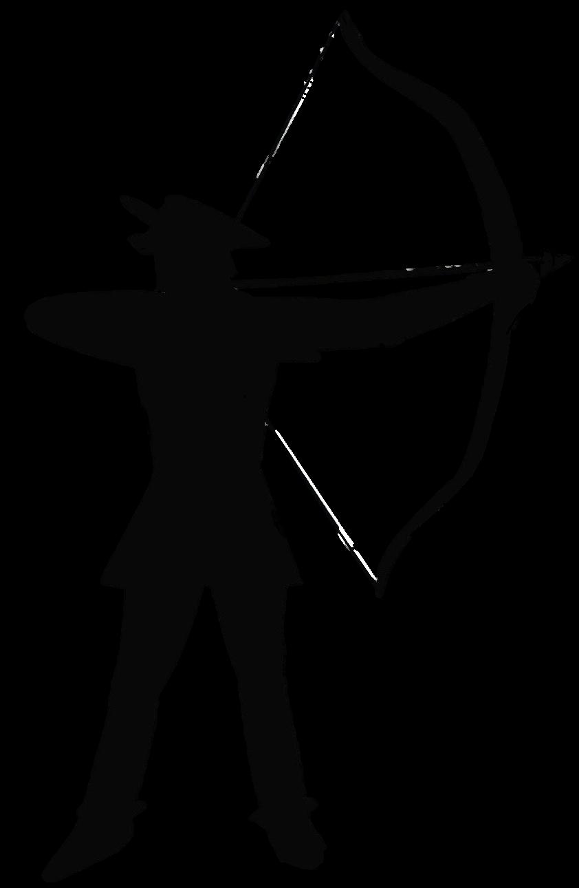 Robin Hood silhouette transparent
